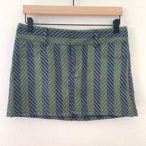 Alicia + Olivia Striped Mini Skirt